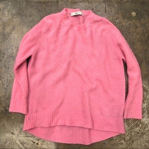 Zara Knit Sweater Pink Bubble Gum Oversized S